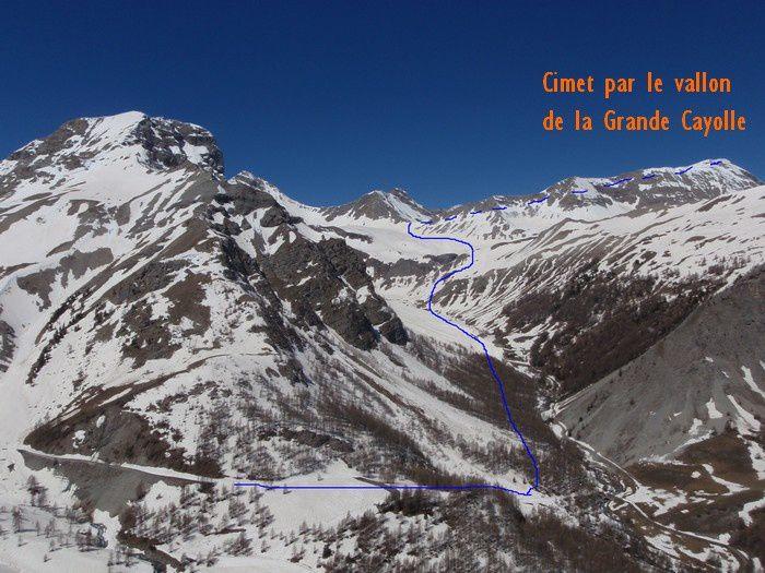 La montée au Cimet par le vallon de la Grande Cayolle et le col de Talon, à la mi mai 2013!