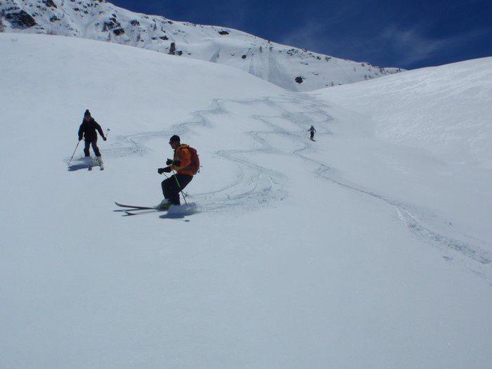 Vers la cabane de l'Alpe, c'est encore le pied.