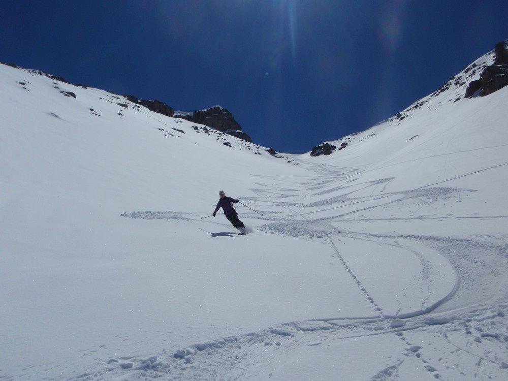 Le 20/04 le ski était très bon à la tete de Sanguiniere.