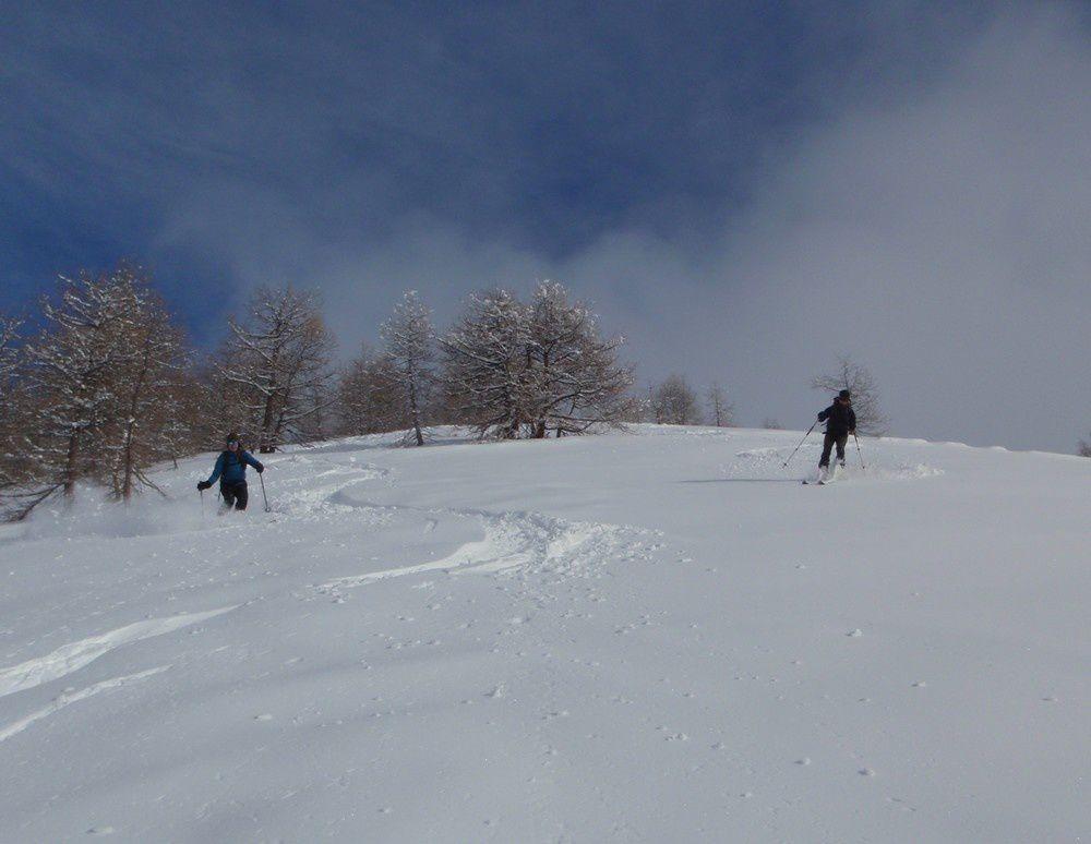 Déjà 15 cm de fraiche bien agréable à skier