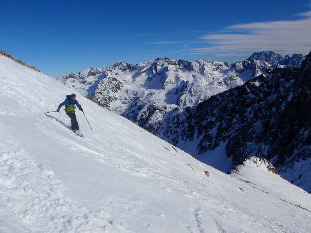 Beau ski sur fond d'Argentera pour le hollandais en manque de glisse.