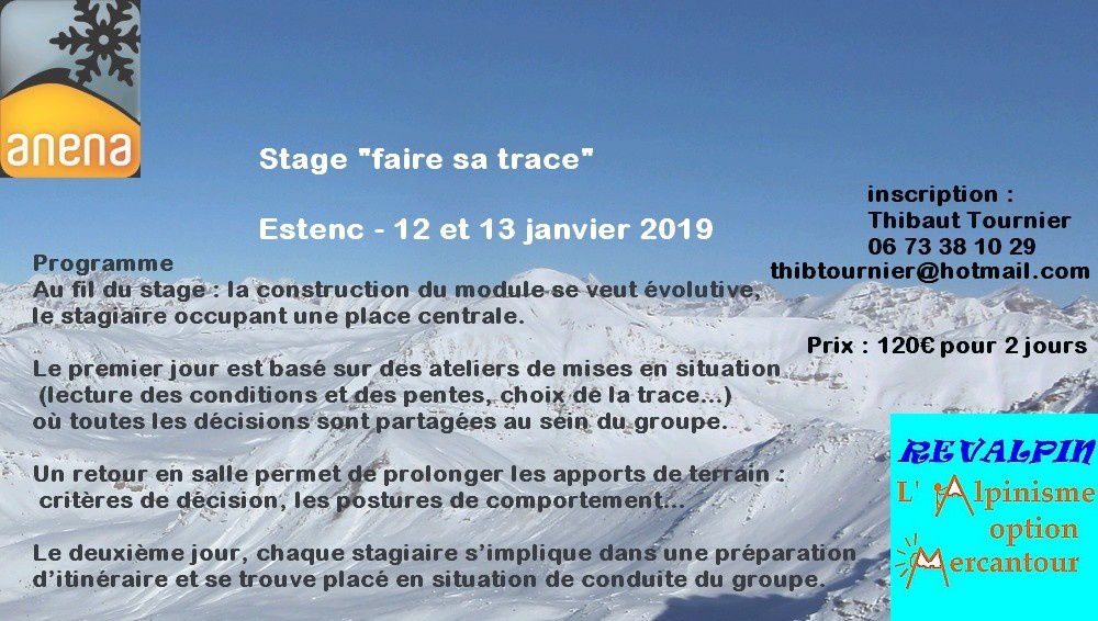 Formation Neige Avalanche 2019