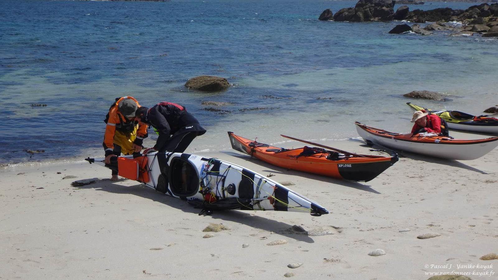 Tour de Bretagne en kayak de mer : de l'île Wrach à Lampaul Plouarzel