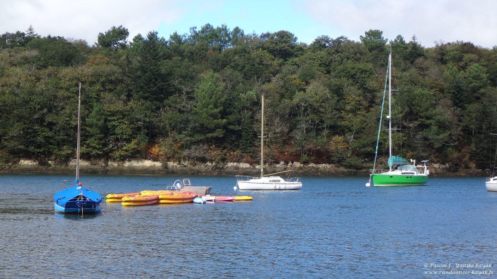 Kayakistes anglais en Finistère - l'Odet