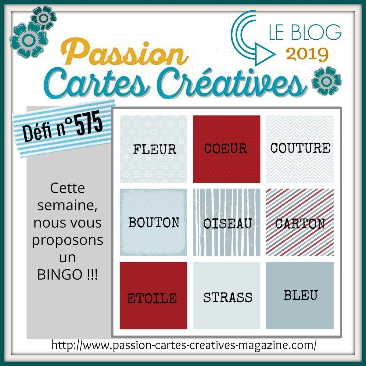 Défi 575 de Passion Cartes Créatives