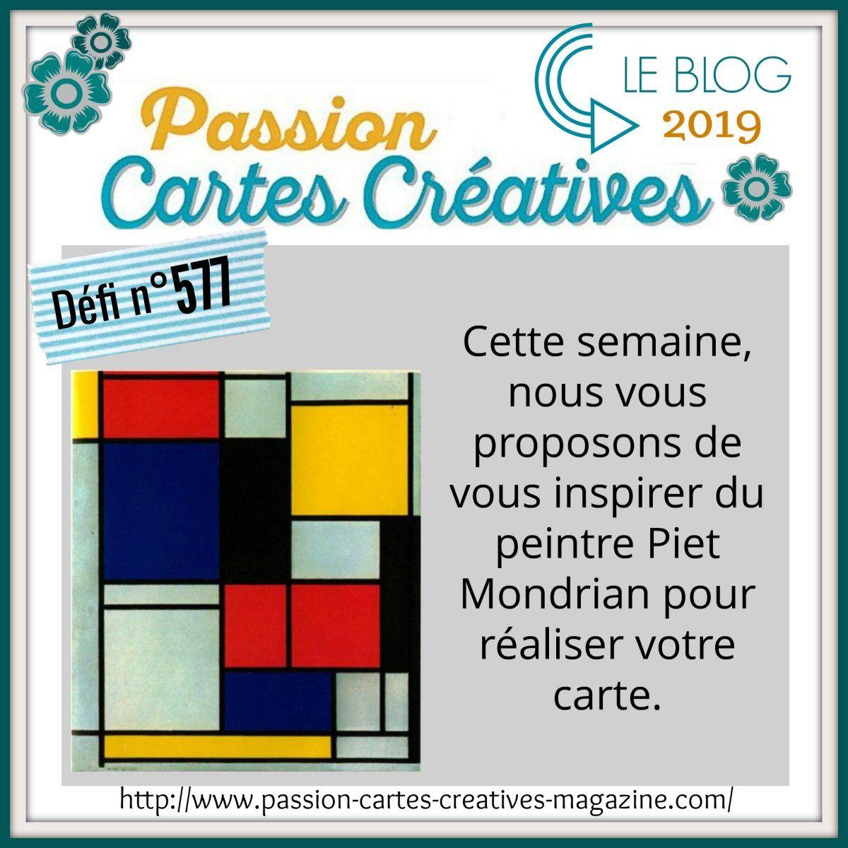 Défi 577 de Passion Cartes Créatives
