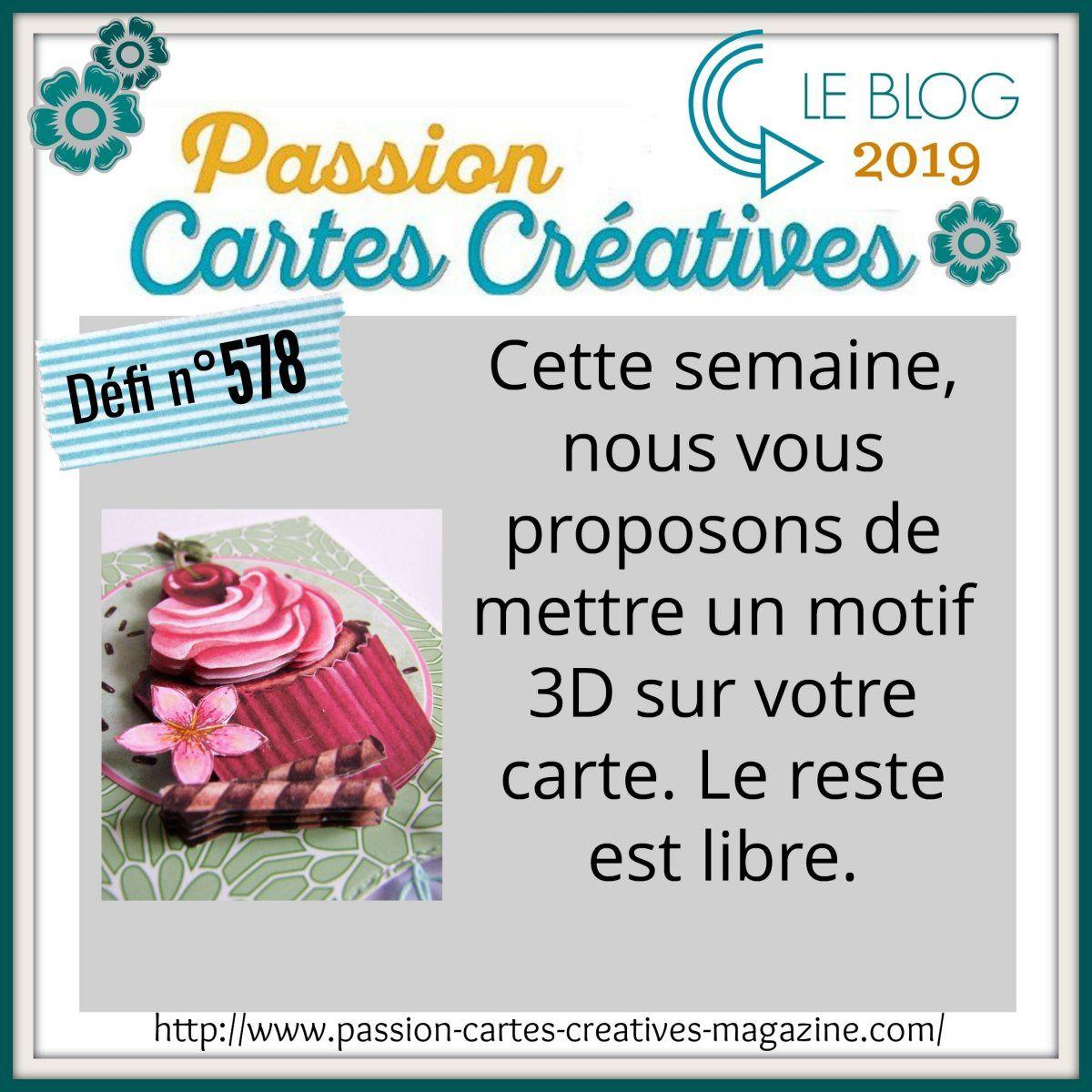 Défi 578 de Passion Cartes Créatives