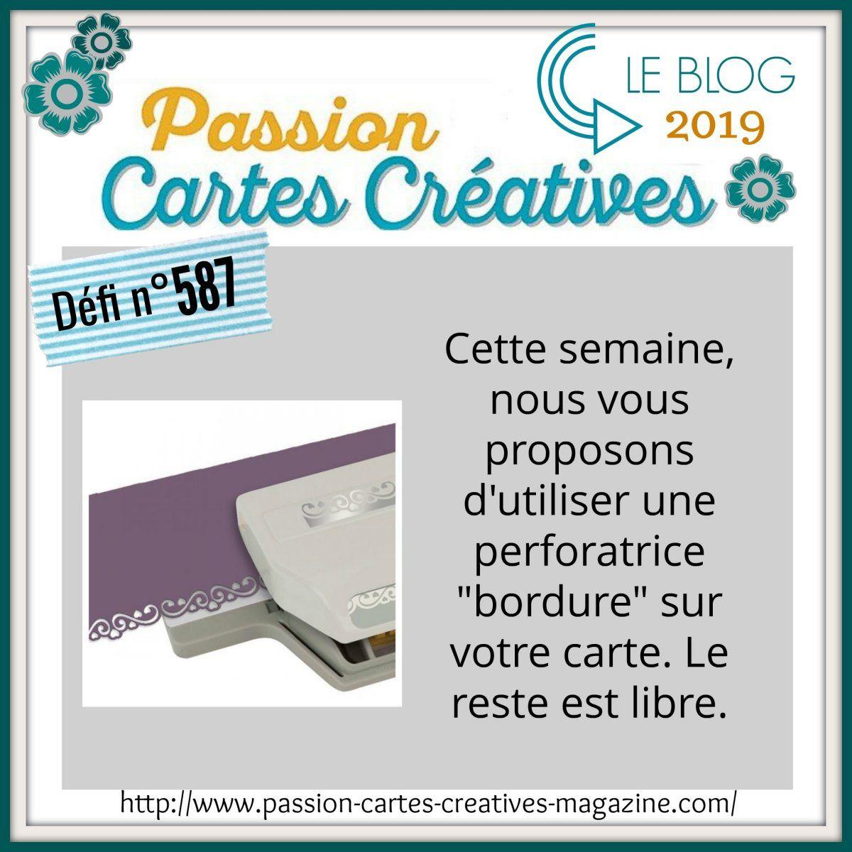 Défi 587 de Passion Cartes Créatives