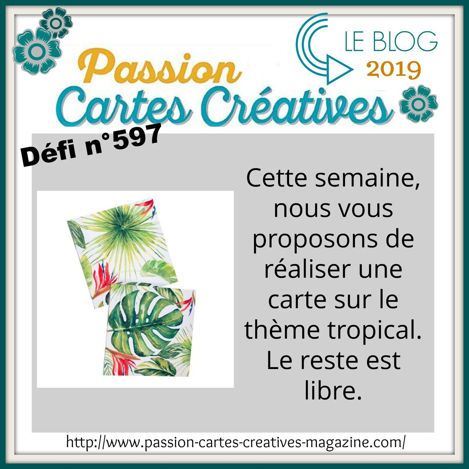 Défi 597 de Passion Cartes Créatives