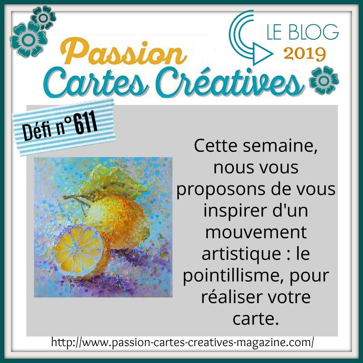 Défi 611 de Passion Cartes Créatives