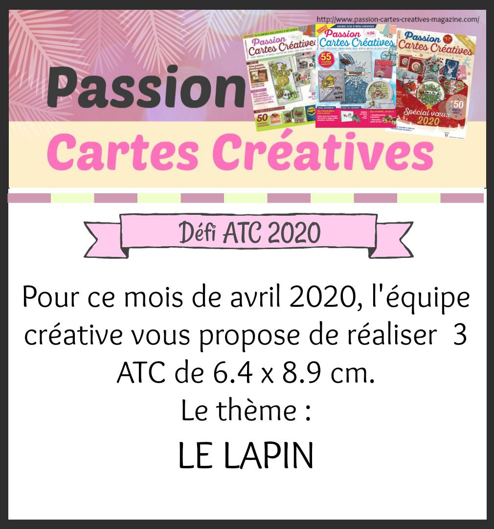 Défi ATC Avril 2020 de Passion Cartes Créatives
