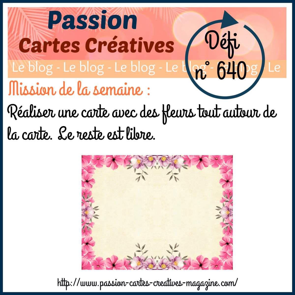Défi 640 de Passion Cartes Créatives