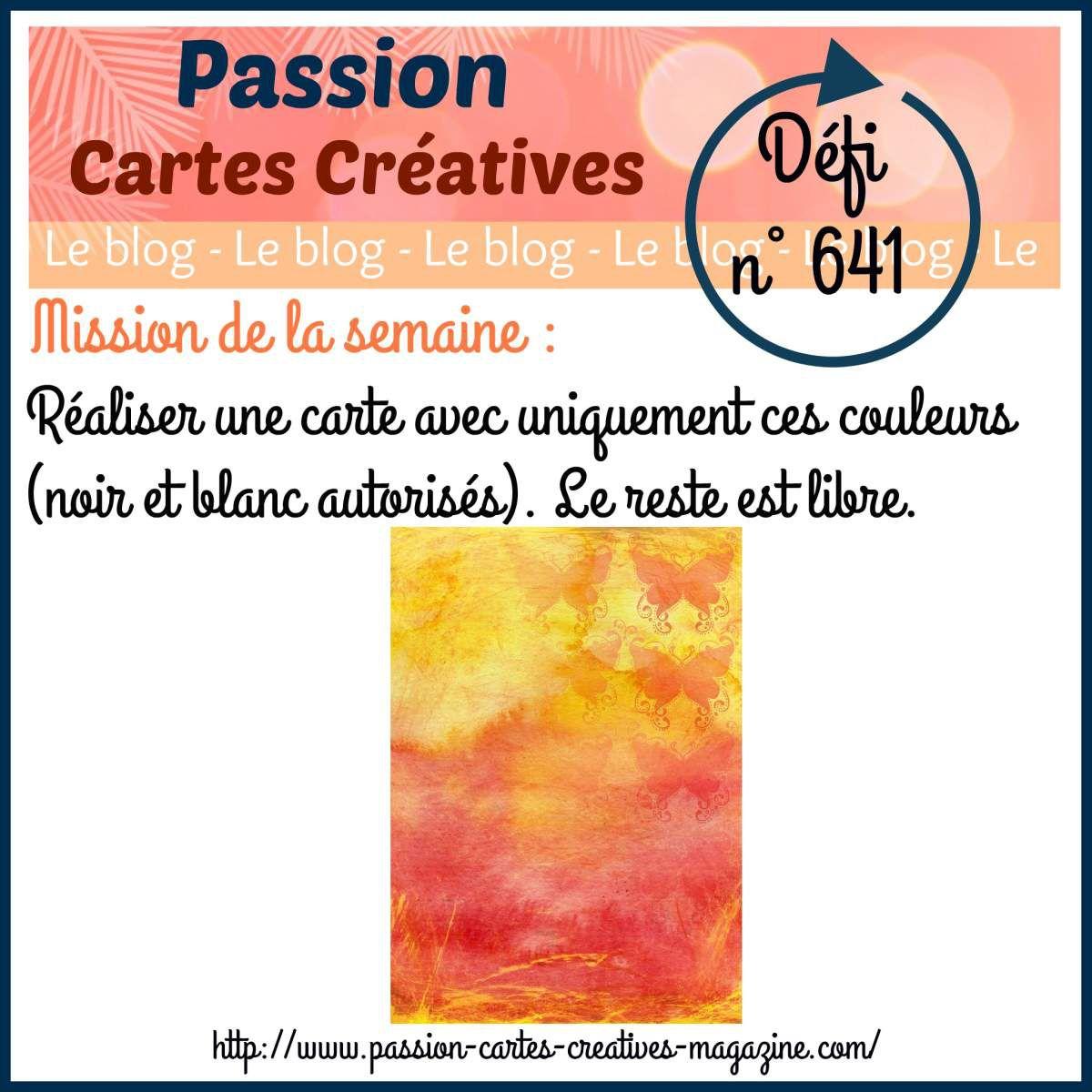 Défi 641 de Passion Cartes Créatives