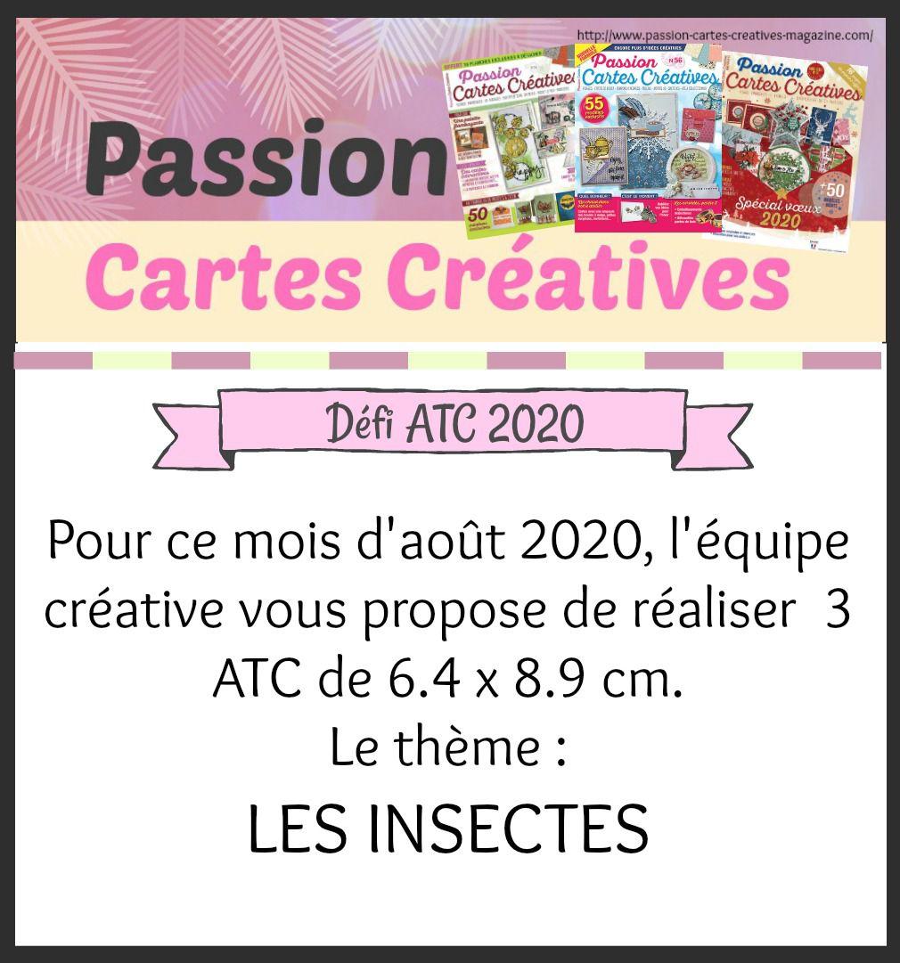 ATC d'août de Passion Cartes Créatives
