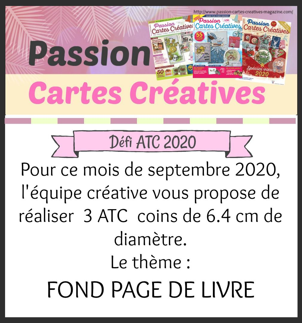 ATC de septembre de Passion Cartes Créatives