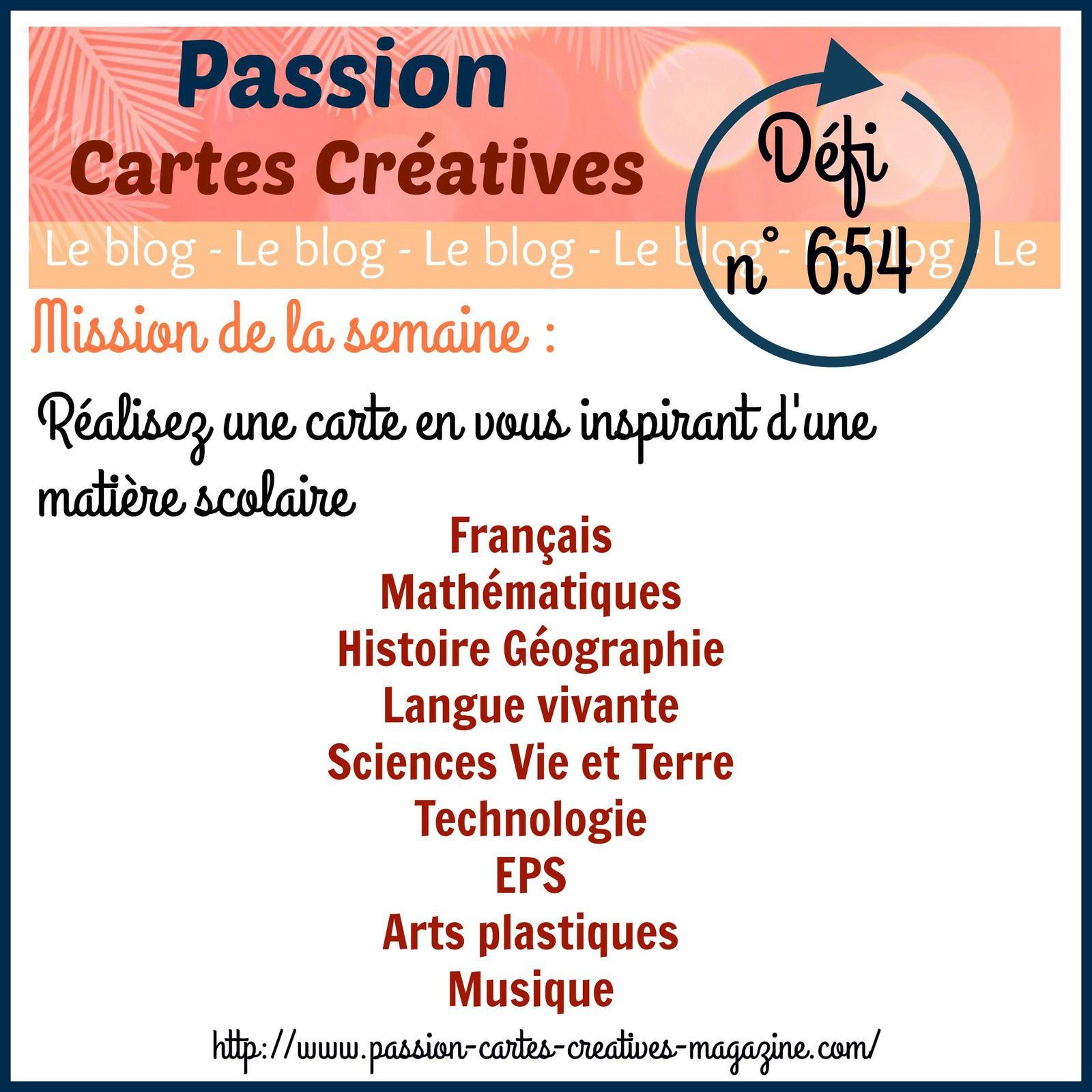 Défi 654 de Passion Cartes Créatives