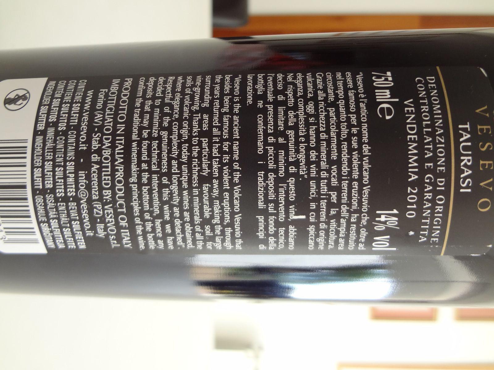 VINO PASSION - Dégustation vin DOCG Taurasi 2010.