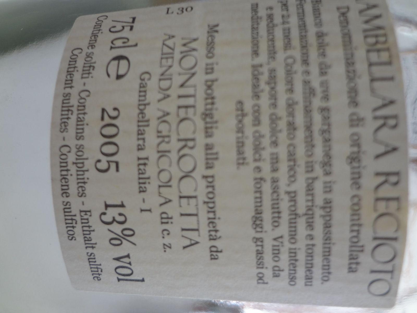 Vino Passion Dégustation vin liquoreux 2005
