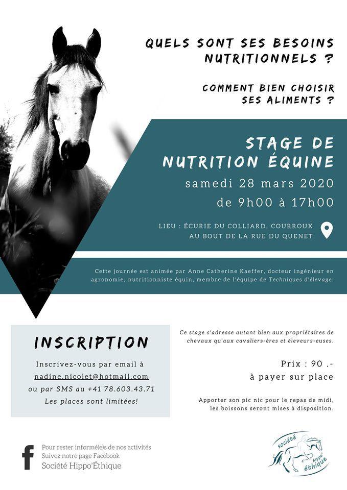 Journée Nutrition Equine dans le Jura Suisse.