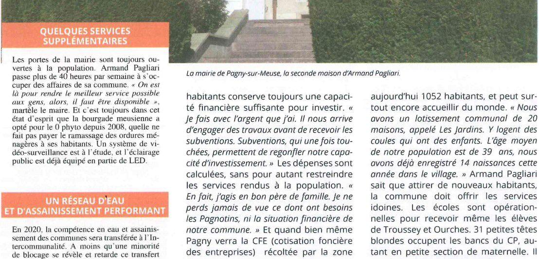Meuse Echos : le maire de Pagny interviewé