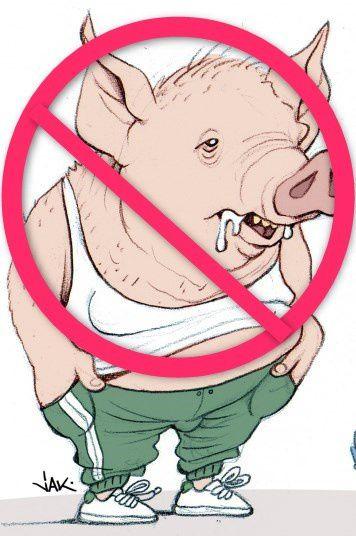 interdictions aux porcs de stationner