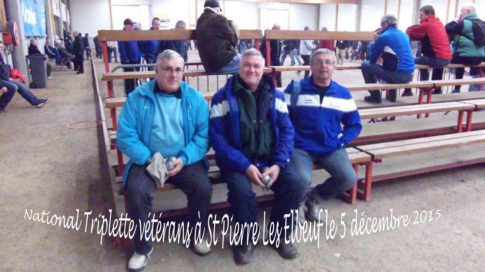 5 décembre 2014 National triplette vétérans St Pierre
