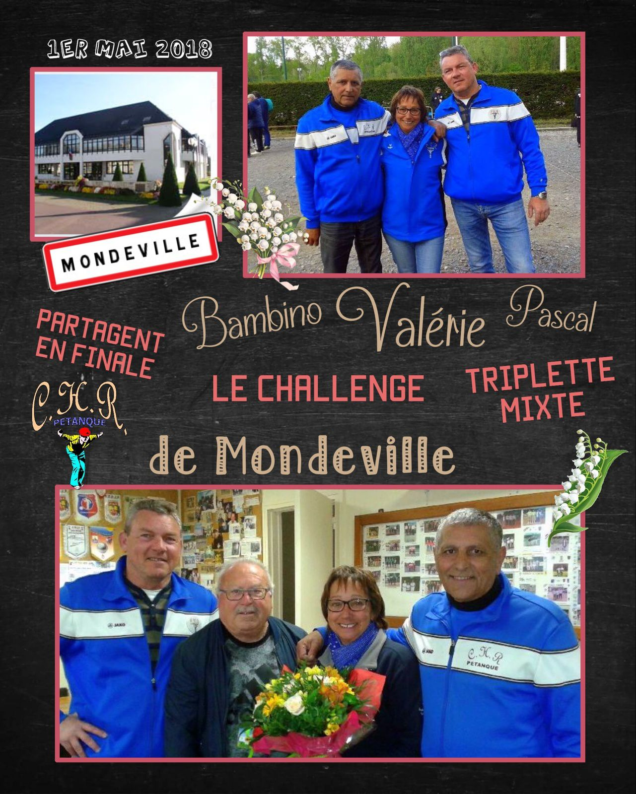 1er mai, Challenge triplette mixte de Mondeville