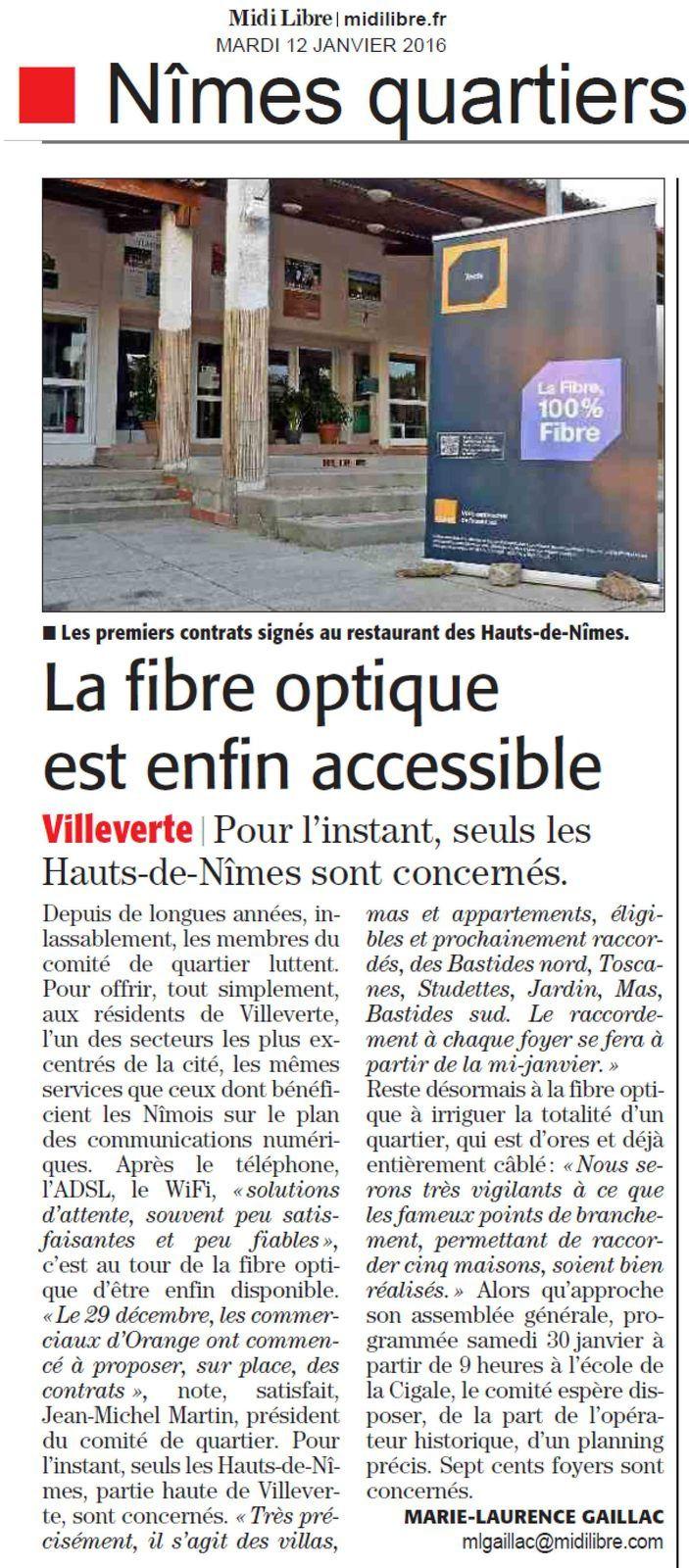 Midi Libre du 12 janvier 2016-La suite du quartier, vite !!!!