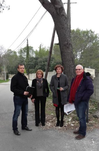 Visite du Quartier de Villeverte avec Orange pour un point sur la fibre