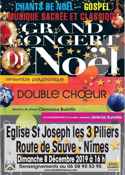 Comité de Quartier de Villeverte à Nîmes, concert Double choeur, Clémence et jérémie Buirette