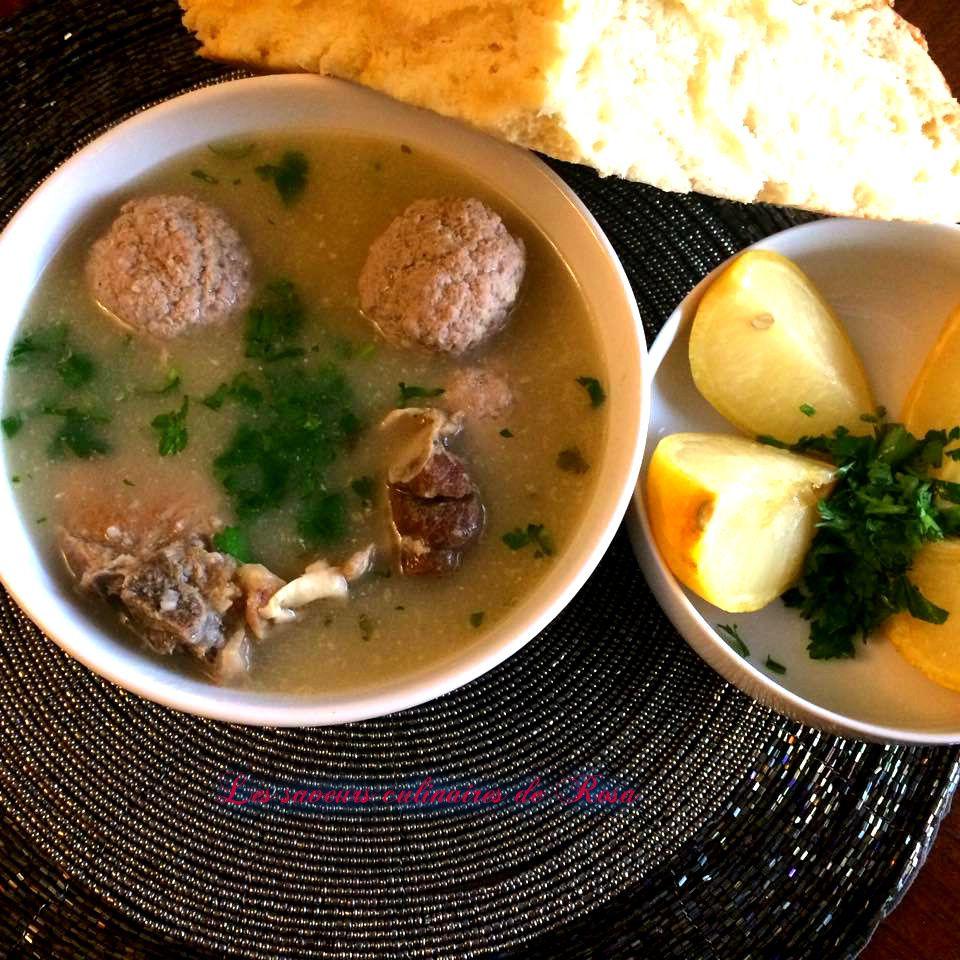 Soupe de blé vert concassé (2) (jari frik byed)