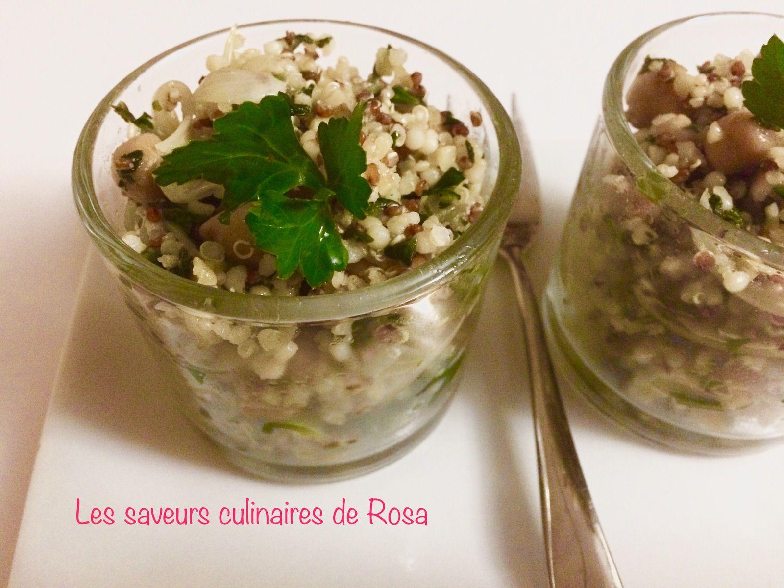 Salade de quinoa et pois chiche