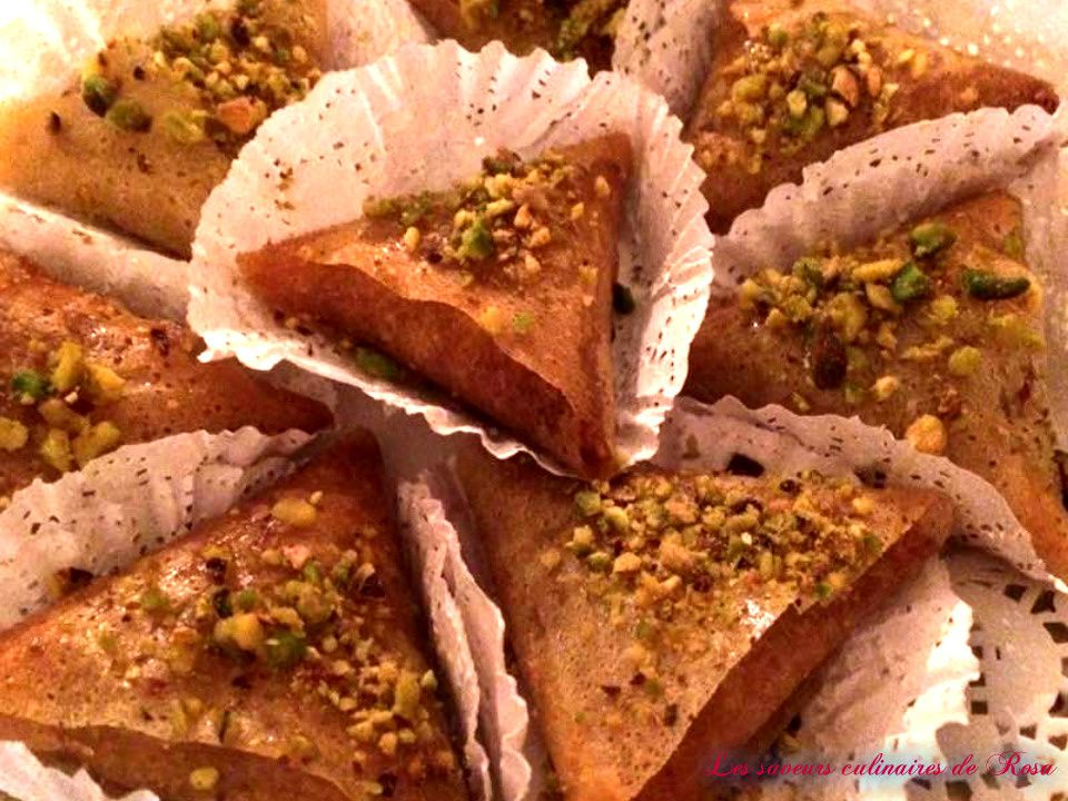 Samoussa aux noisettes (samoussas tunisiennes)