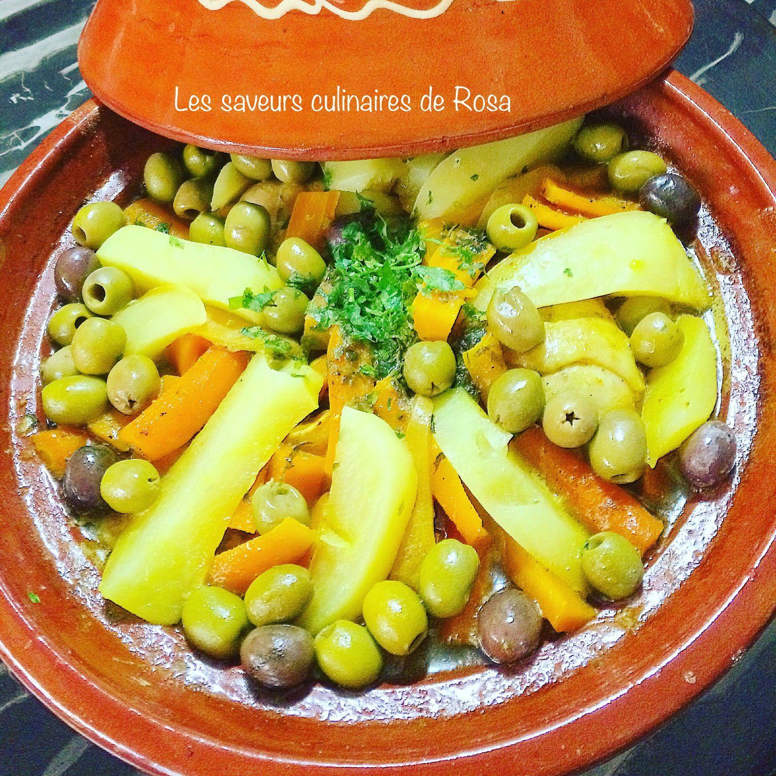 Tajine de poulet, pommes de terre et carottes