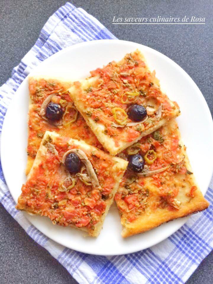 Pizza algérienne (pizza carré)