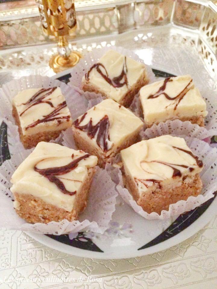 Bniwen façon zalige ou rkhama ( gâteau algérien aux cacahuètes sans cuisson)