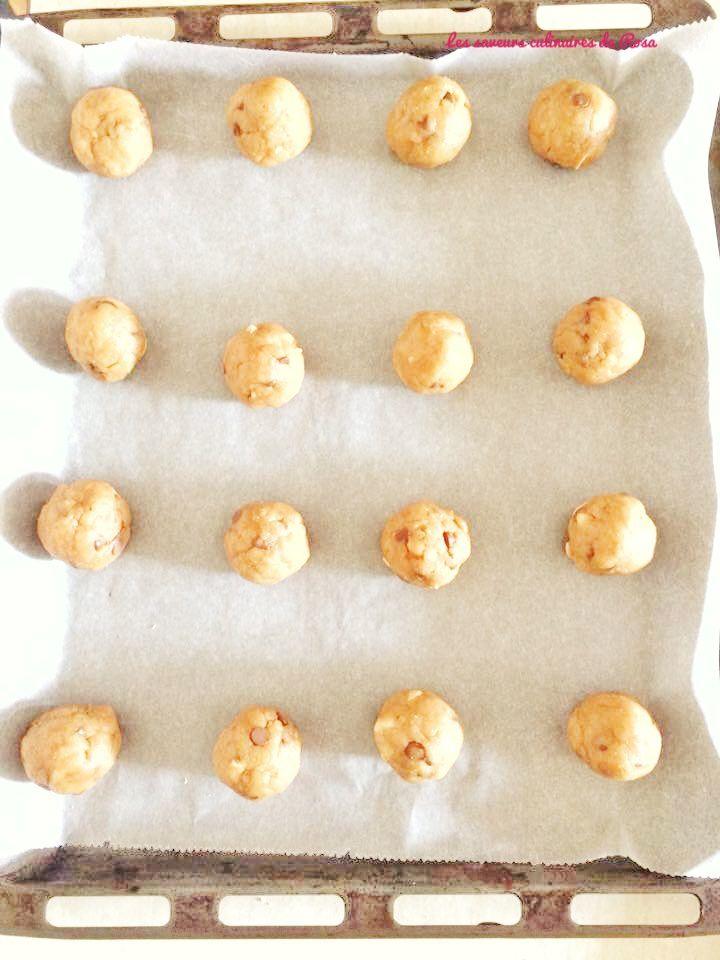 Cookies aux pépites de chocolat et beurre de cacahuètes