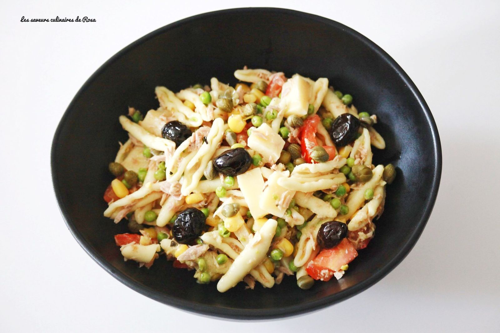 Salade de pâtes (cavatoni) aux légumes