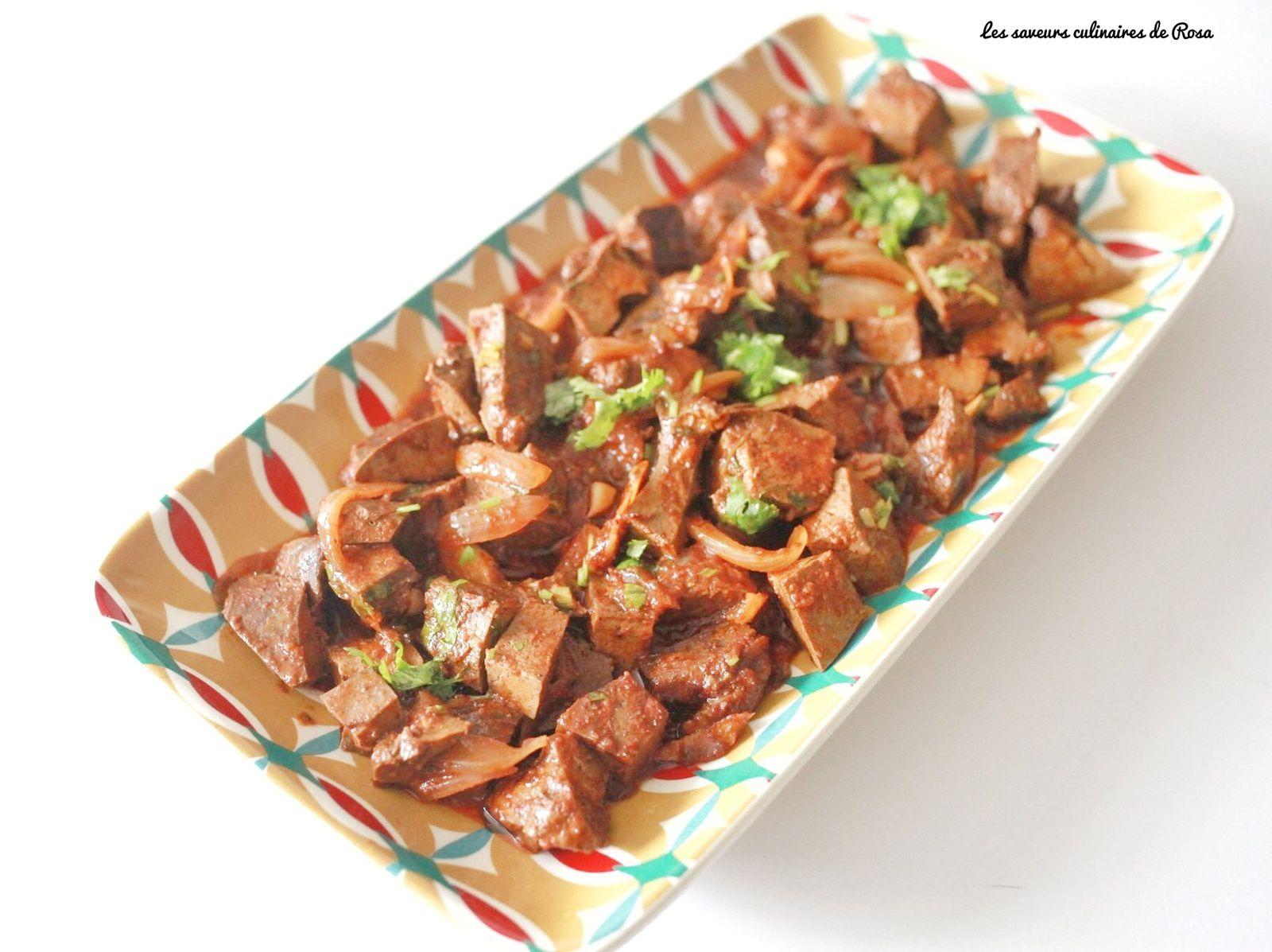Kebda mchermla (foie d'agneau en sauce) recette 2