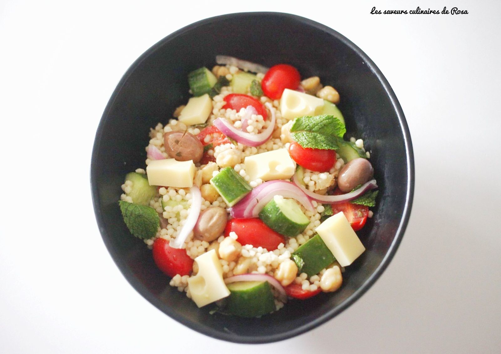 Salade aux petits plombs ( pearl couscous salad)
