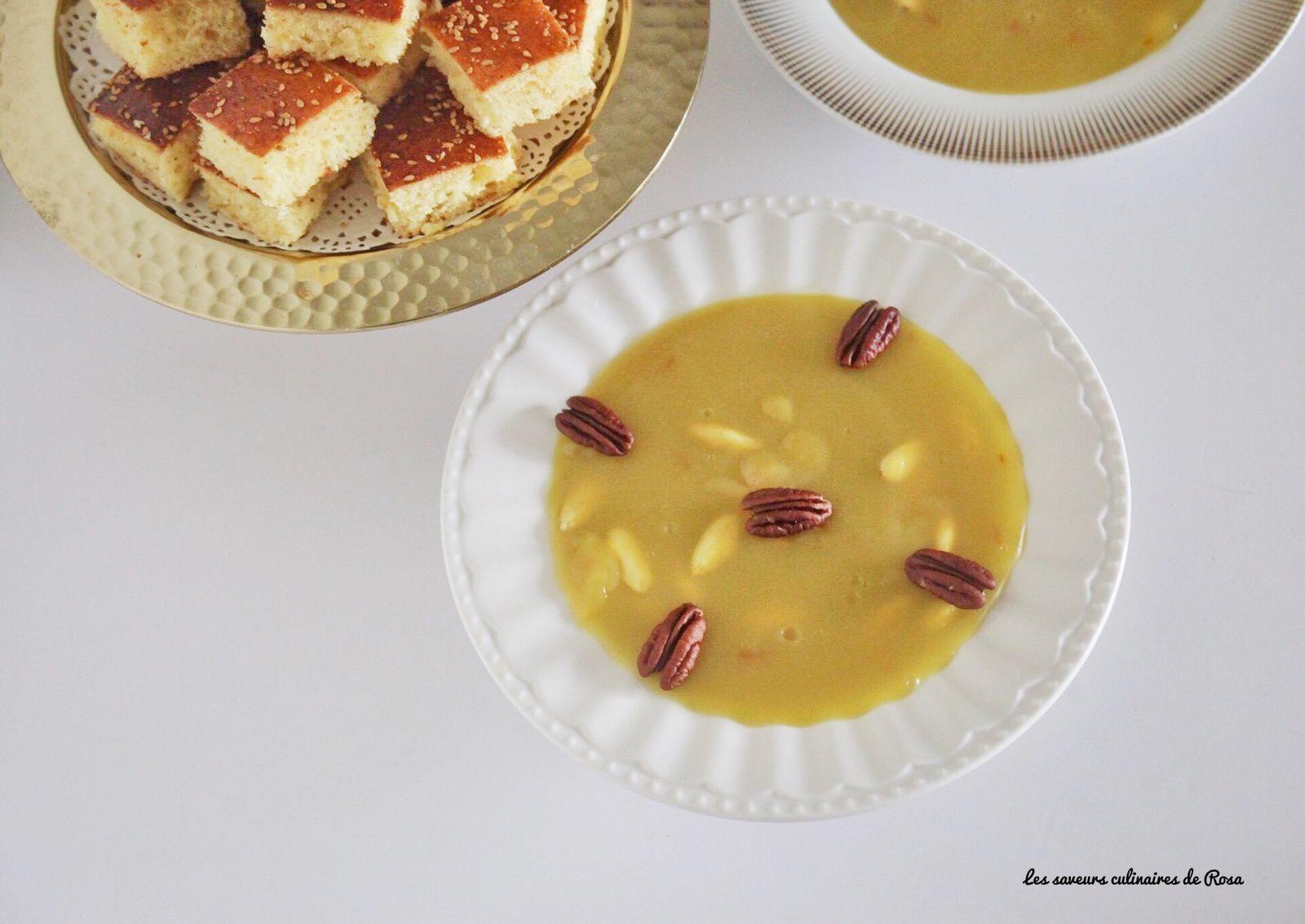 Tbikh (entremet traditionnel constantinois au miel et aux amandes)