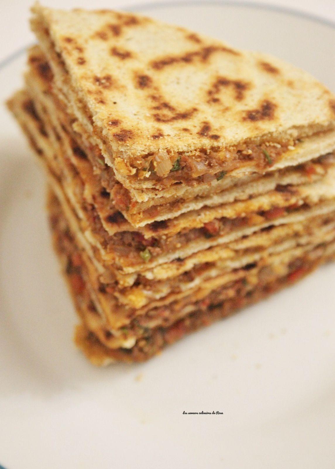 Kesra farcie (galette algérienne farcie à ma façon)
