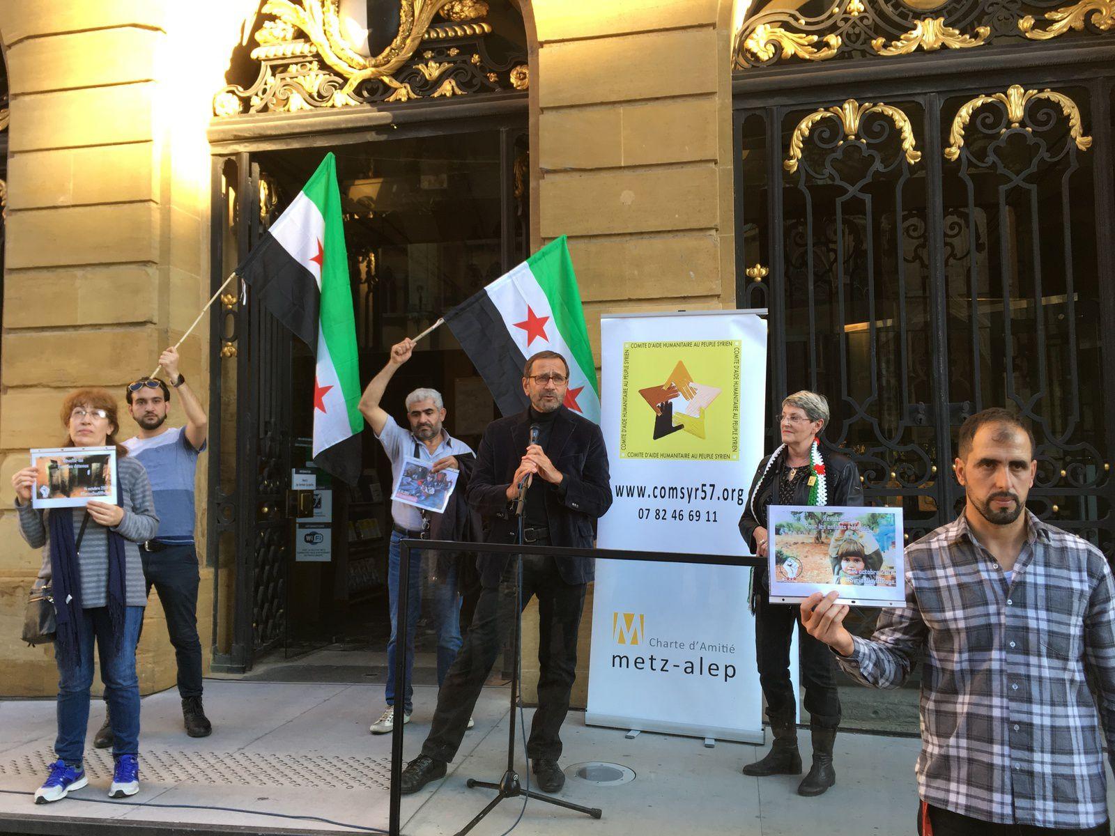 14 octobre, jour de colère pour la Syrie. Rassemblement à Metz