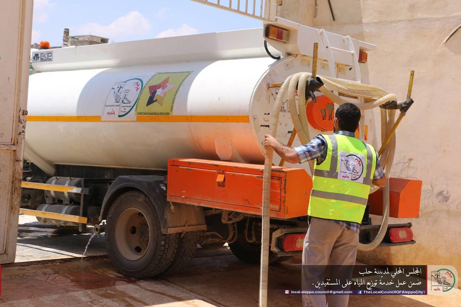 Eau potable pour les réfugiés dans la Région d'Alep-Idlib : 3è opération en juillet 2018