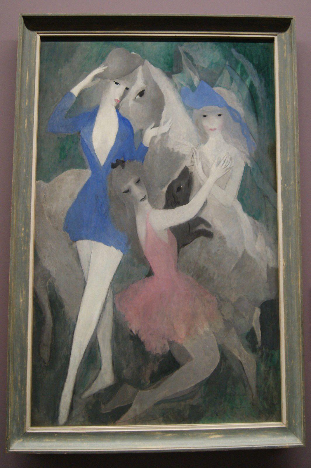 """Marie Laurencin """" Danseuses espagnoles """"Huile sur toile : 150 x 95 cm"""