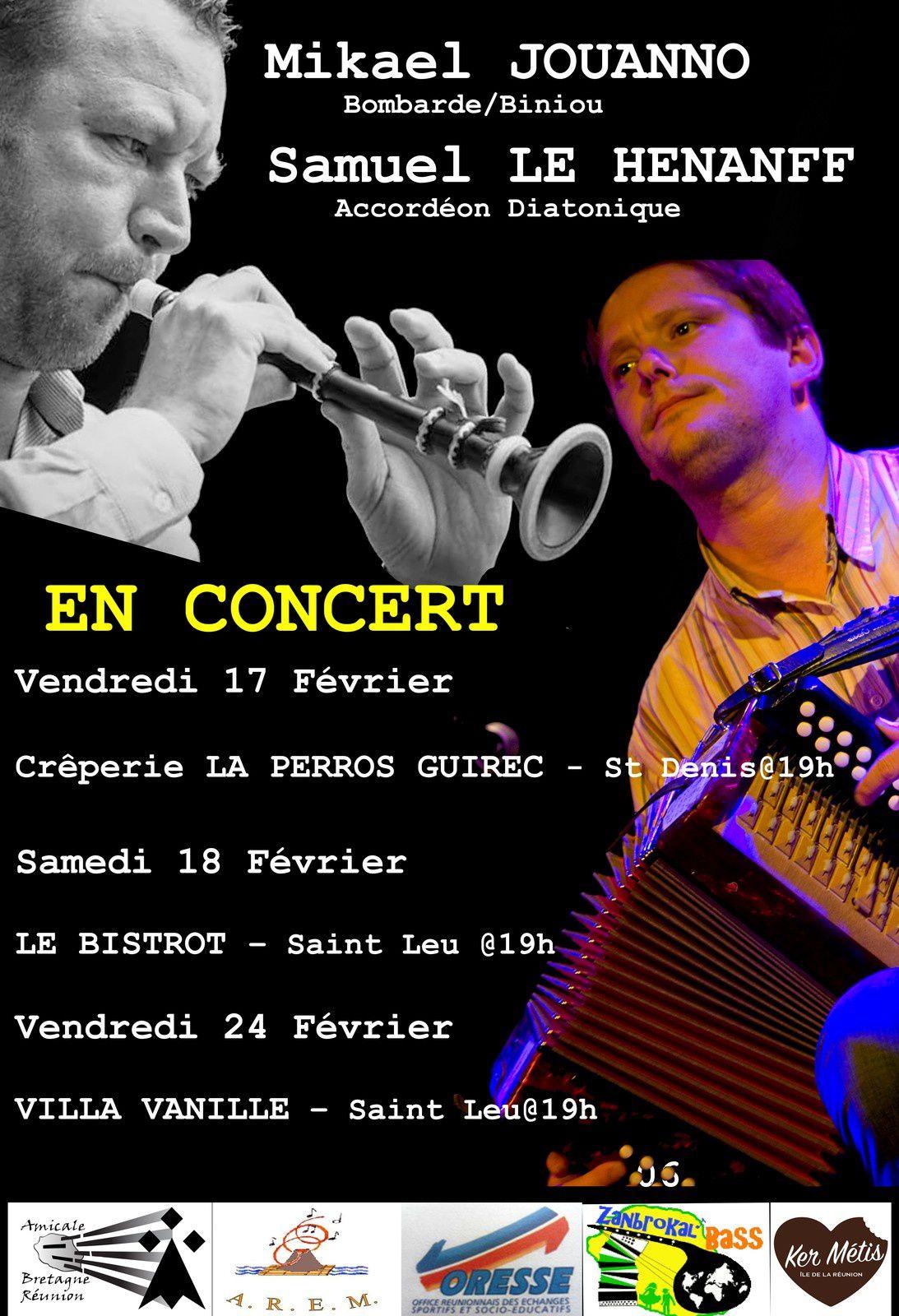Duo Samuel Le Hénanff & Mickaël Jouanno en concert à La Réunion