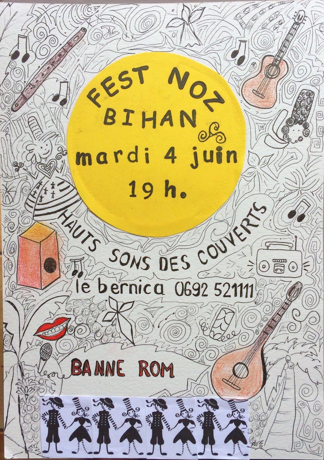 "fest-noz bihan(petit fest-noz ) avec ""l'atelier du lundi Matin"" deBANNE ROM."