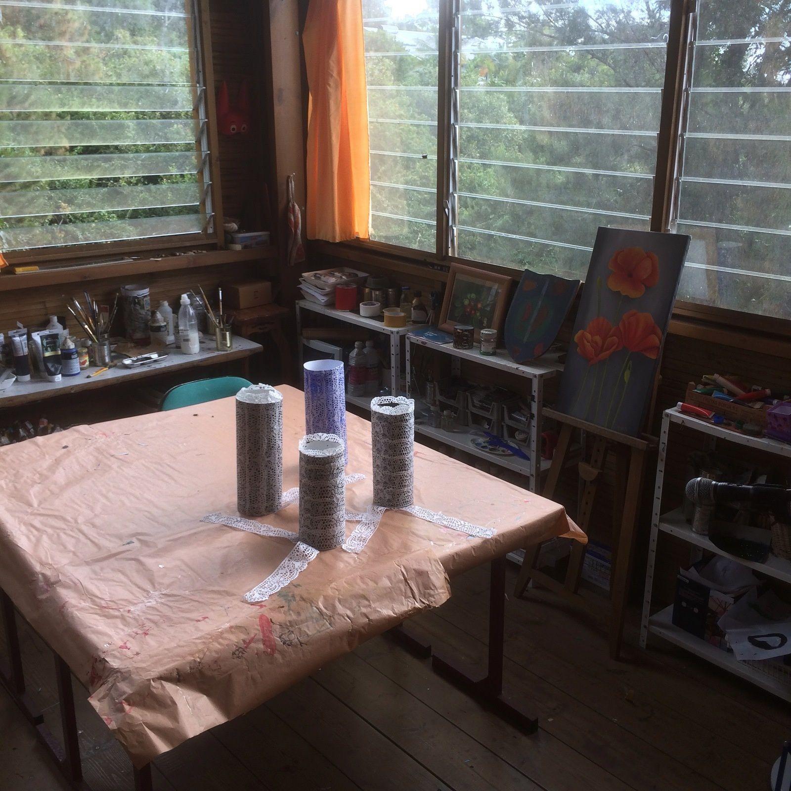 Atelier préparation des coiffes pour les Bigoudènes du Grand Boucan 2019