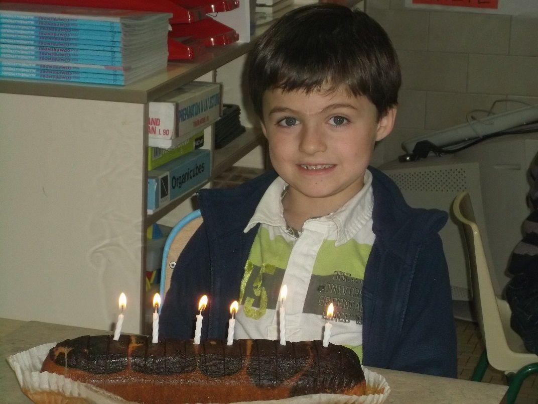 Arnaud a eu 6 ans.