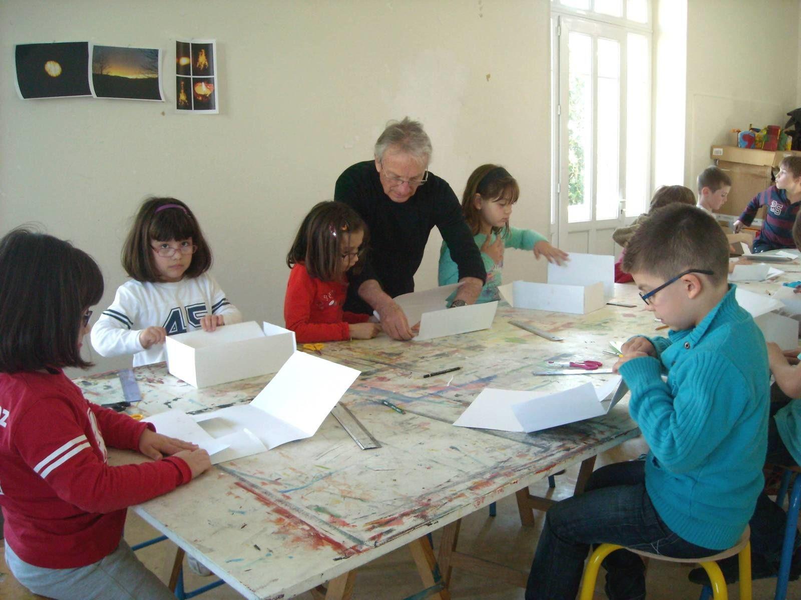Les CE1 à l'école d'art